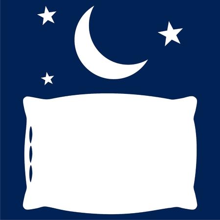 Sleep concept icon, Moon, star and pillow icon - Illustration