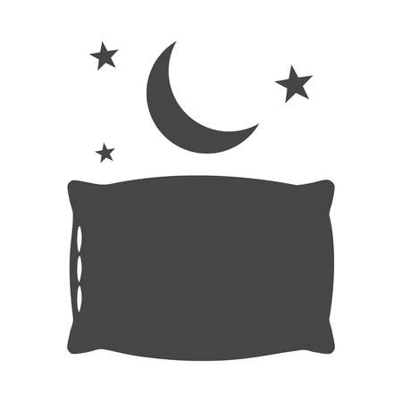 Sleep concept icon, Moon, star and pillow icon - Illustration