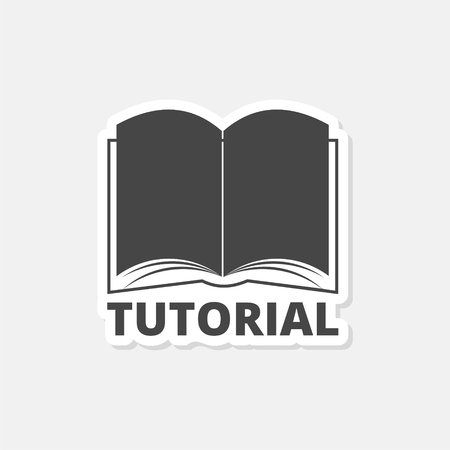 Tutorial icon with book - Illustration