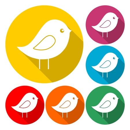 Bird Icon Flat Graphic Design - Illustration