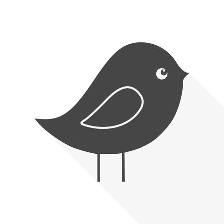 Bird Icon Flat Graphic Design - Illustration