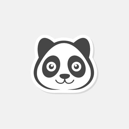 Panda icon - vector illustration Stock Illustratie