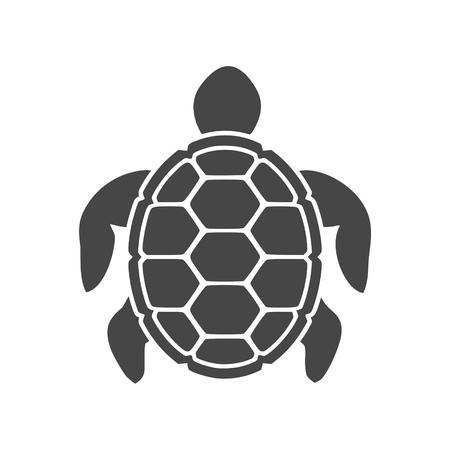 Turtle icon flat graphic design - illustration Illustration
