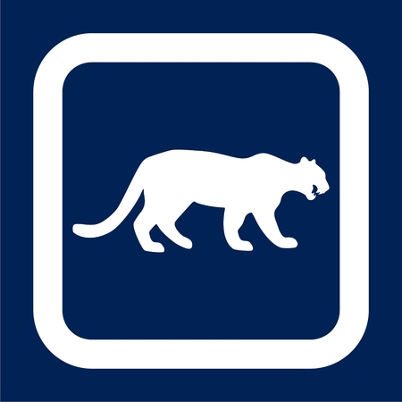 Panther, wild cat icon - Illustration