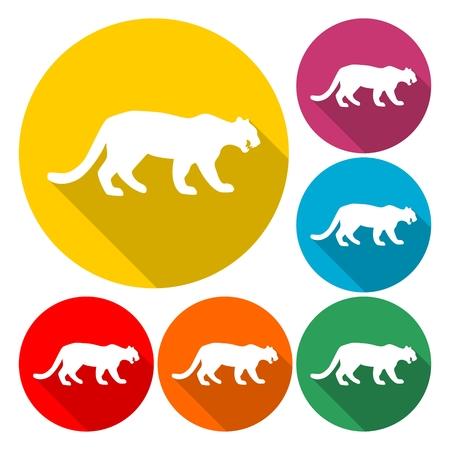 Panther, Cat icon design - Illustration Illustration
