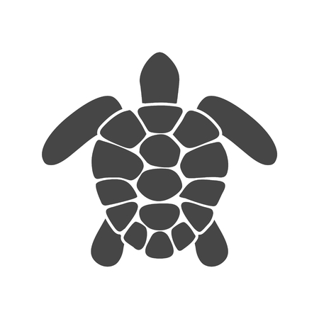Turtle silhouette icon - Illustration