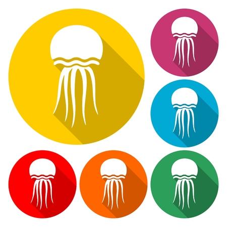 Isolated jellyfish icon - Illustration Illustration