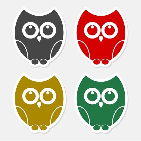 Owl icon - Illustration