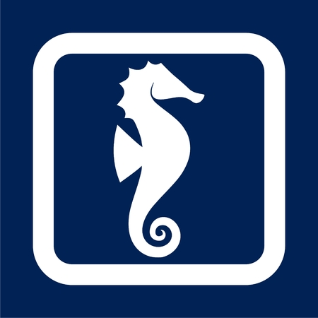 Sea horse vector illustration Ilustração