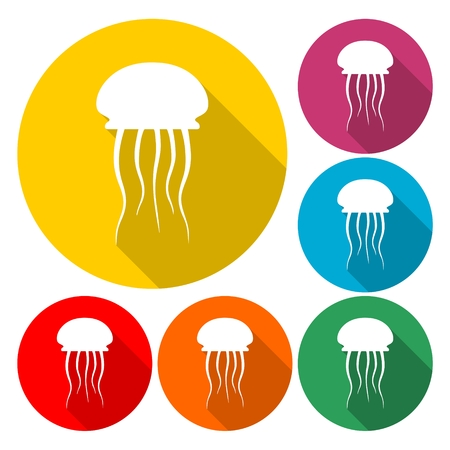 Isolated jellyfish icon - Illustration Illustration