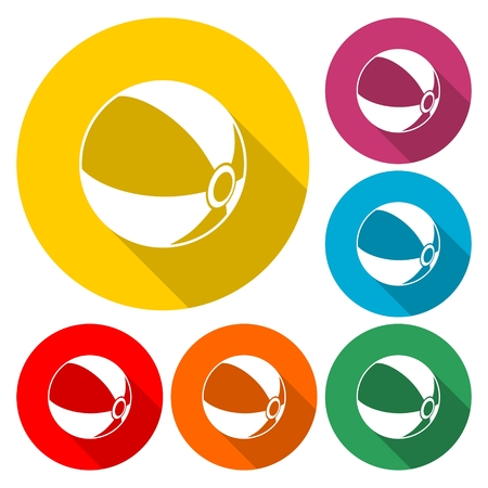 Beach ball icon - Illustration.