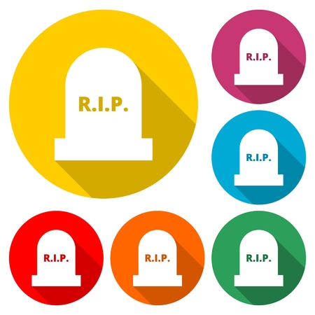 Tombstone icon, Gravestone Icon - Illustration.