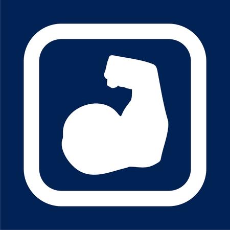 Biceps Arm Vector Icon - Illustration