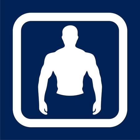 Strong man icon - Illustration