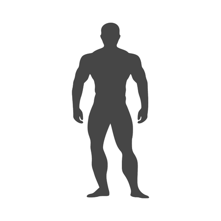 Strong man icon - vector Illustration Illustration