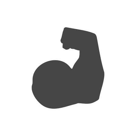 Biceps arm icon on white background, vector illustration.