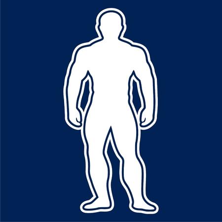 Strong man icon - vector Illustration Illustration