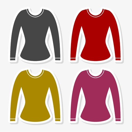 Women Sweatshirts icon - Illustration