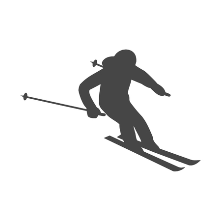 Ski icon. Vector illustration