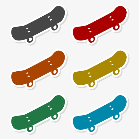 Graphics silhouette skateboard icon