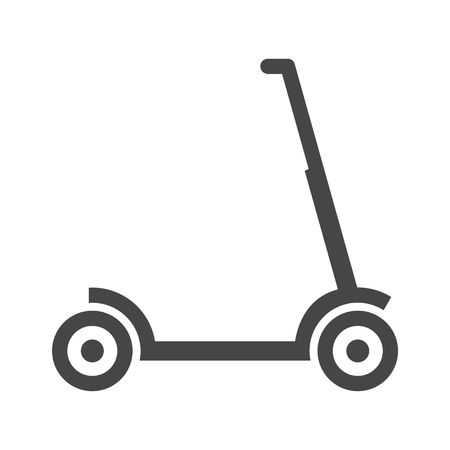 Kick scooter icon illustration in a flat style - Illustration