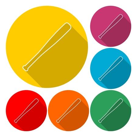 Baseball bat - vector Illustration