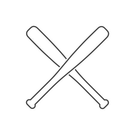 Baseball bat Vector illustration isolated on white background.