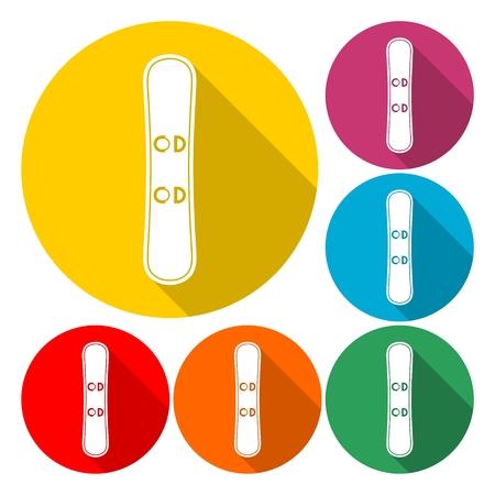 Snowboard Icon Flat Graphic Design Foto de archivo - 91346940