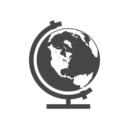 Vector school globe icon - illustration Vettoriali