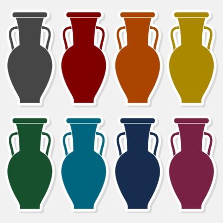 Vase icon - vector Illustration