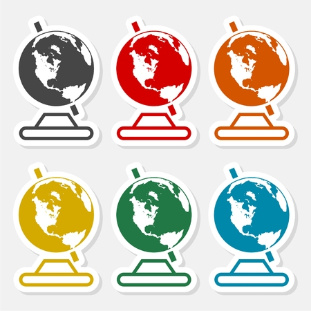 Vector school Globe icon - Illustration