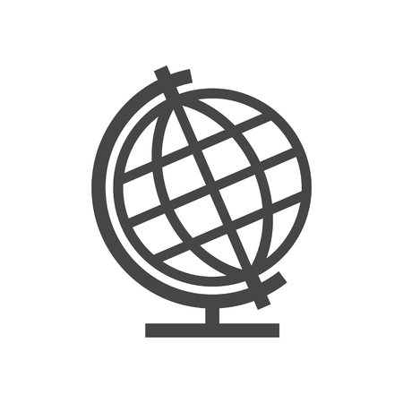 Vector school Globe icon - Illustration