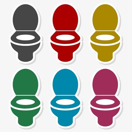 Toilet bowl illustration Illustration