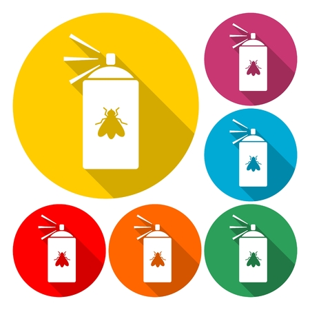 Spray Can Icon Flat Graphic Design - Illustration
