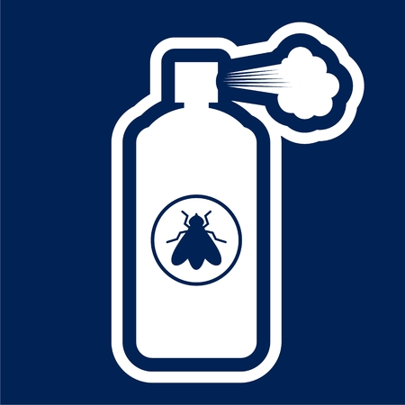 Anti insect spray - Illustration