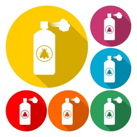 Anti insect spray - Illustration