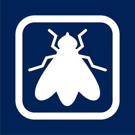 Fly icon - vector Illustration Ilustracja