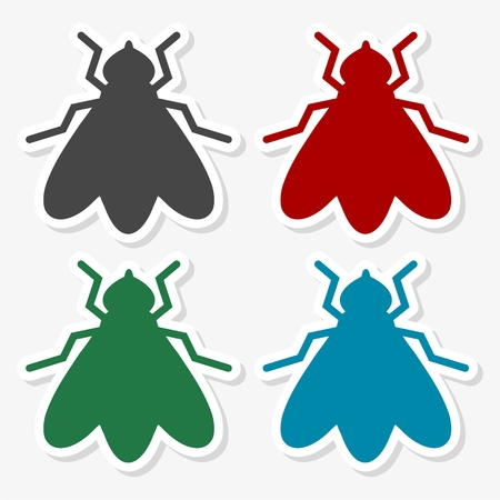 Fly insect vector icon - Illustration