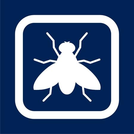 Fly icon - vector illustration Иллюстрация