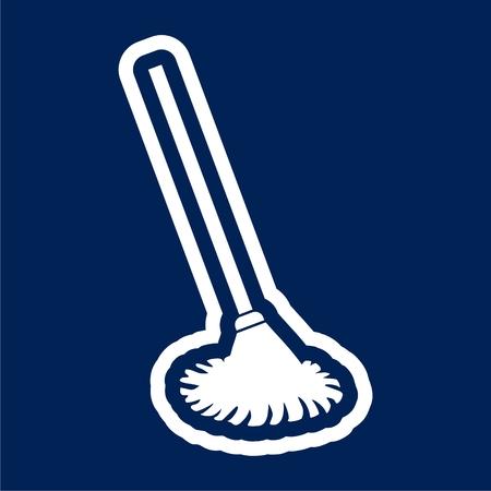 Mop icon - Vector illustration.