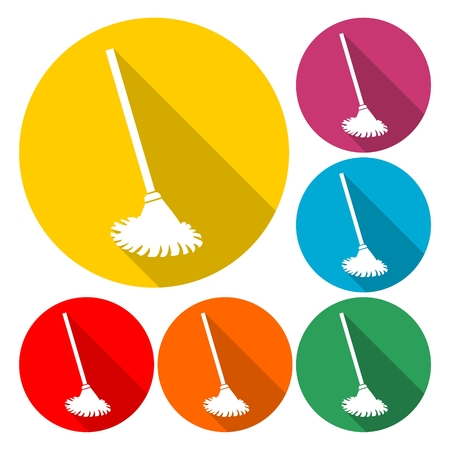 Mop icon - Vector illustration.