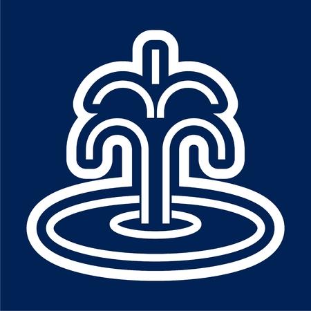 Fountain icon - Vector illustration. Stock Illustratie