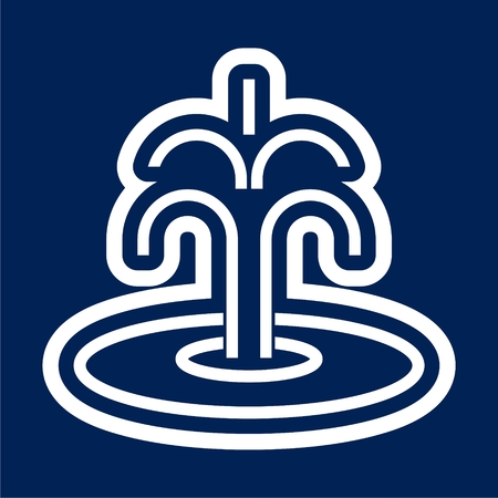Fountain icon - Vector illustration. Vettoriali