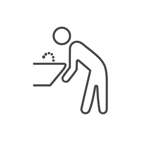 Water Fountain icon Illustration 向量圖像