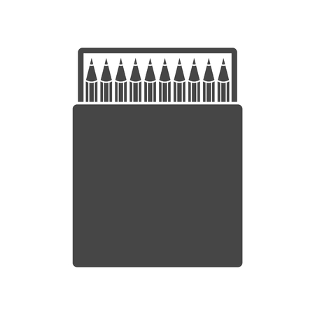 Pencil box icon illustration. Illustration