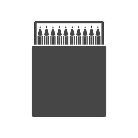 Pencil box icon illustration. Illustration