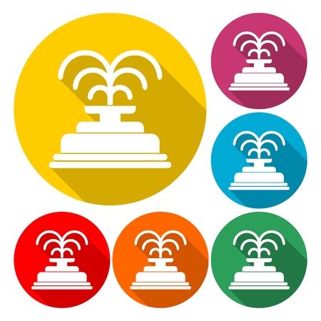 Park fountain icon - Vector illustration. Illustration