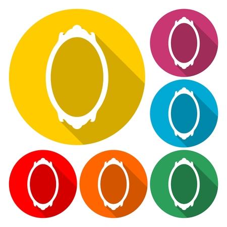 Mirror vector icon   on plain background. Illustration