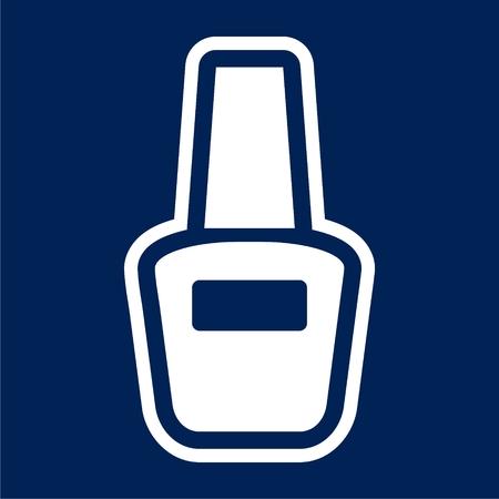 Vector nail polish icon - Illustration