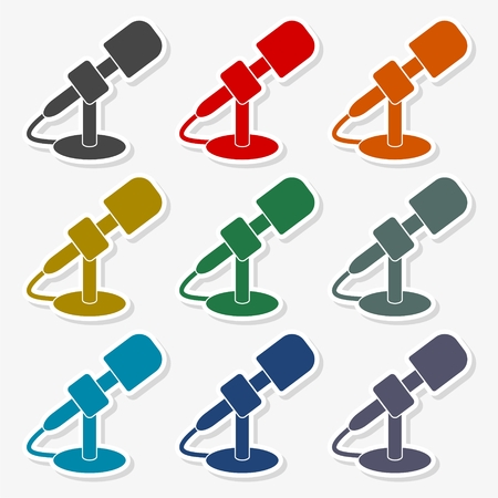 Microphone icon - vector Illustration